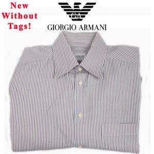 NWOT Giorgio Armani Collezione Striped Button Up